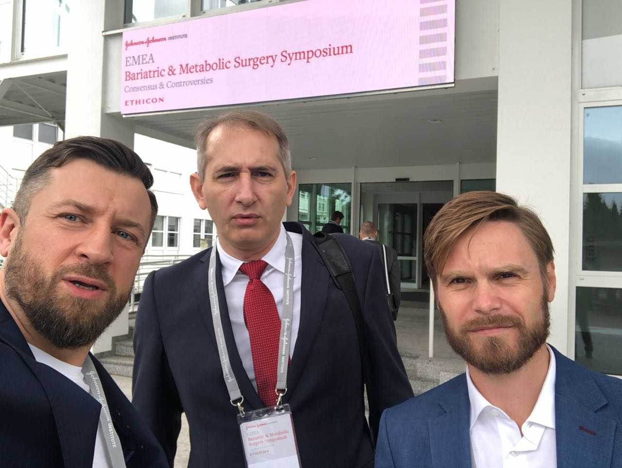 Бариатрические хирурги (слева направо: Илья Елагин (Москва), Бекхан Хациев (Ставрополь) и Евгений Зорин (Москва)